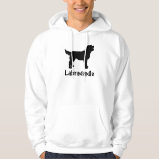 Labradoodle w/ Cool Text (in black) Hoodie