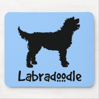 Labradoodle w/ Cool Text (in black) Mouse Pad