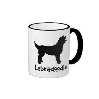 Labradoodle w/ Cool Text (in black) Ringer Mug