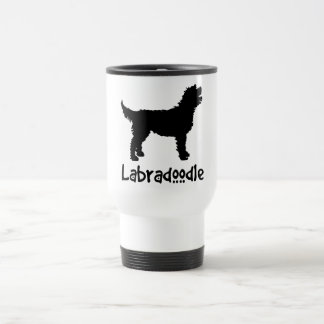 Labradoodle w/ Cool Text (in black) Stainless Steel Travel Mug