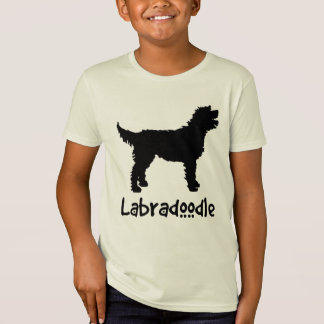 Labradoodle w/ Cool Text (in black) T-shirt