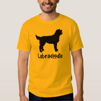 Labradoodle w/ Cool Text (in black) T-shirts