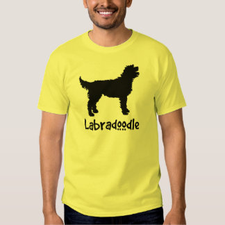 Labradoodle w/ Cool Text (in black) Tshirts
