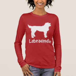 Labradoodle W/ Cool Text (in white) Long Sleeve T-Shirt