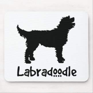 Labradoodle w/ Cool Text Mouse Pad