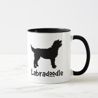Labradoodle w/ Cool Text Mug