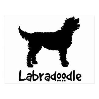 Labradoodle w Cool Text Postcard