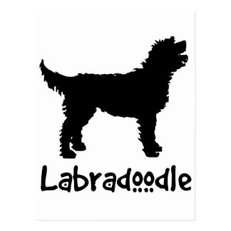 Labradoodle w Cool Text Postcards