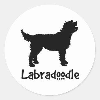 Labradoodle w/ Cool Text Round Sticker