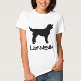 Labradoodle w/ Cool Text Tee Shirts