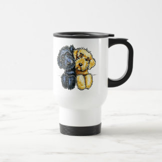 Labradoodles Black Yellow Lined Up Stainless Steel Travel Mug