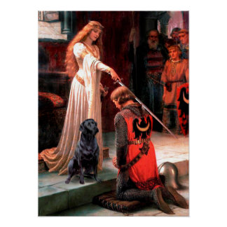 Labrador 4 (black) - The Accolade Poster