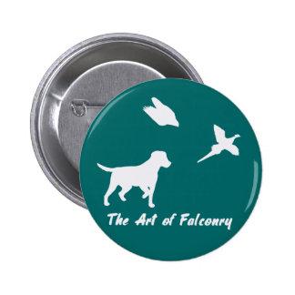 Labrador and Falconry 6 Cm Round Badge