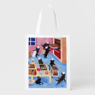 Labrador Bakery Painting Reusable Grocery Bags