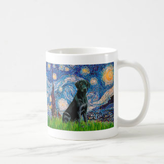 Labrador (black) - Starry Night Basic White Mug