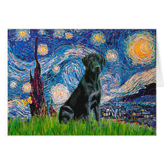 Labrador (black) - Starry Night Card