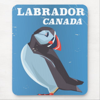 Labrador Canada Puffin vintage travel poster Mouse Mat