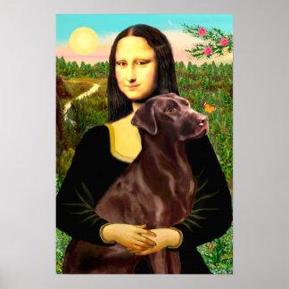 Labrador (Chcolate) - Mona Lisa Poster