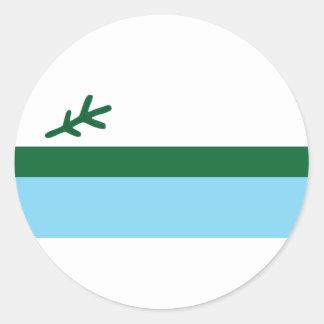 labrador classic round sticker