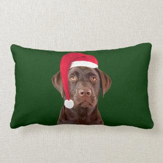 Labrador dog Christmas lumbar pillow