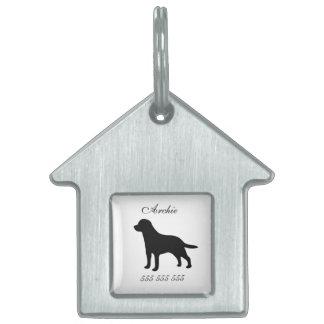 Labrador dog custom name & phone no. dog id tag