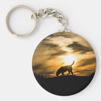Labrador Dog Keyring Basic Round Button Key Ring