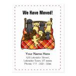 Labrador Dogs Cartoon Moving Annoucement Postcards