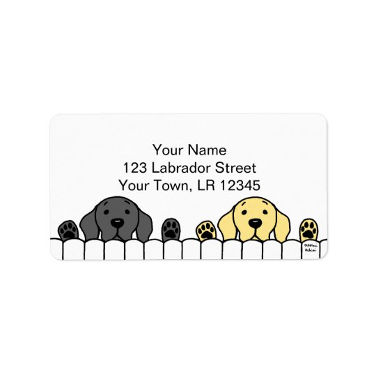 Labrador Duo Watching You Address Label