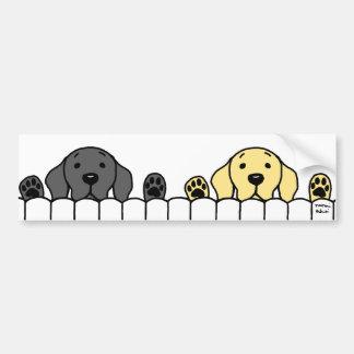Labrador Duo Watching You Bumper Stickers