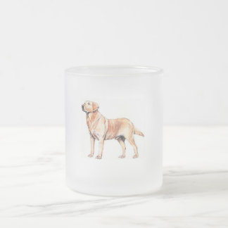 Labrador Frosted Glass Mug