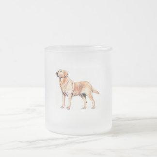 Labrador Frosted Glass Mug