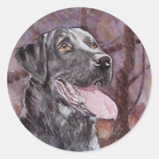 Labrador. Gun Dog Classic Round Sticker