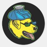 Labrador Hangover Gear Round Sticker