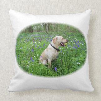 Labrador in woodland cushion