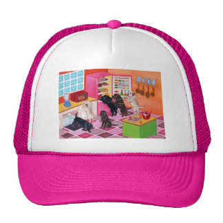 Labrador Kitchen Party Painting Trucker Hat