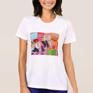 Labrador Kitchen Party Painting Tee Shirts