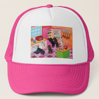 Labrador Kitchen Party Painting Trucker Hat