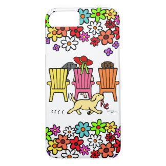 Labrador Mom at Poolside Floral iPhone 7 Case