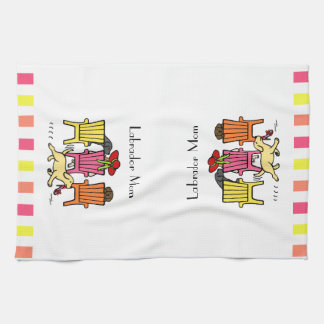 Labrador Mom at Poolside Tea Towel