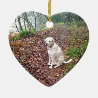 Labrador on Autumn Banks Christmas Ornament
