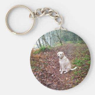 Labrador on Autumn Banks Keychain