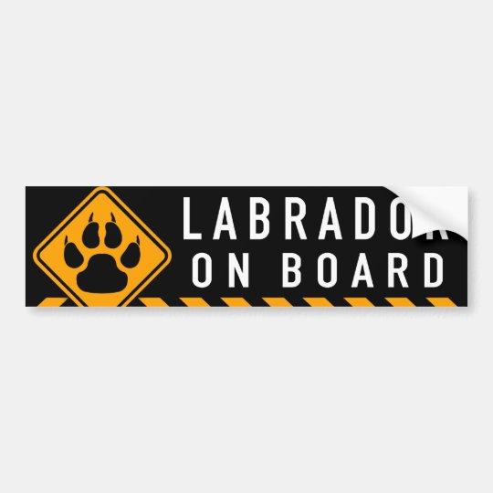 Labrador On Board Bumper Sticker