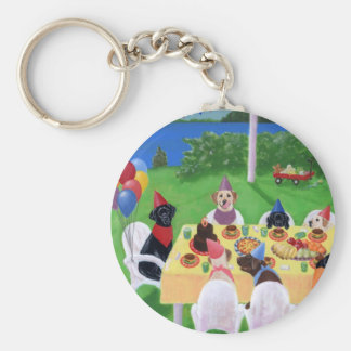Labrador Party Key Ring