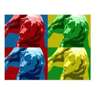 Labrador pop art effect! postcard