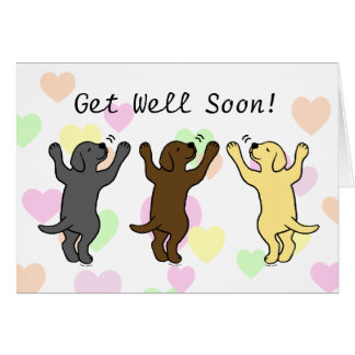 Labrador Puppies Group Hug Card