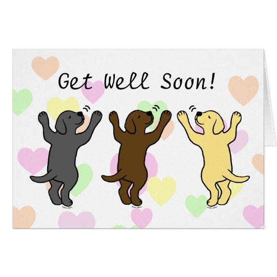 Labrador Puppies Group Hug Card
