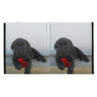 Labrador puppy dog iPad folio covers
