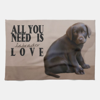 Labrador Puppy Kitchen Towel