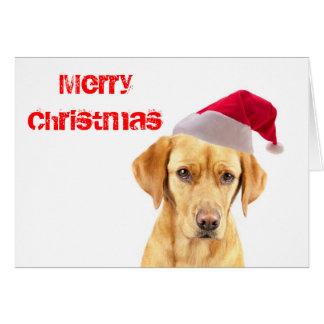 Labrador Puppy on a Christmas Card