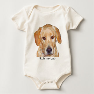 "Labrador ""Reggie"" Painting on Infant Shirt"